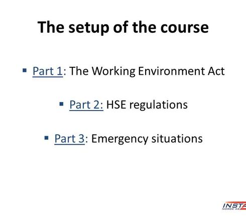 Introduction to health, safety and environment (HMS) 3