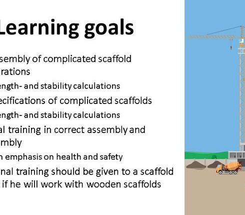 Scaffold builder course 1